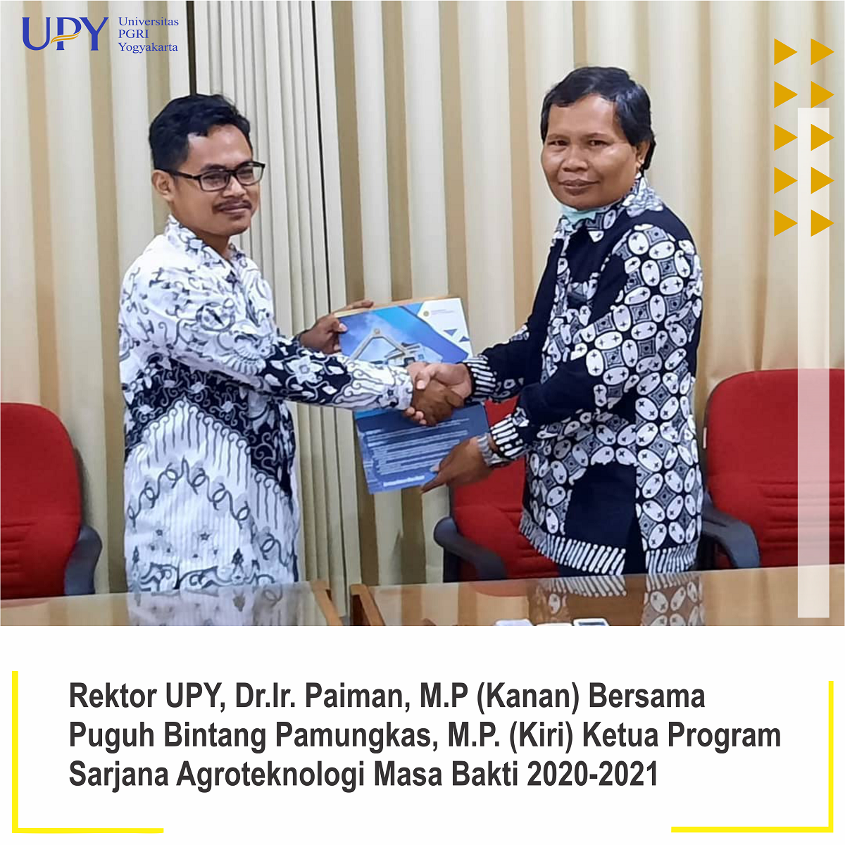 Rektor UPY Lantik Ketua Prosa Agroteknologi