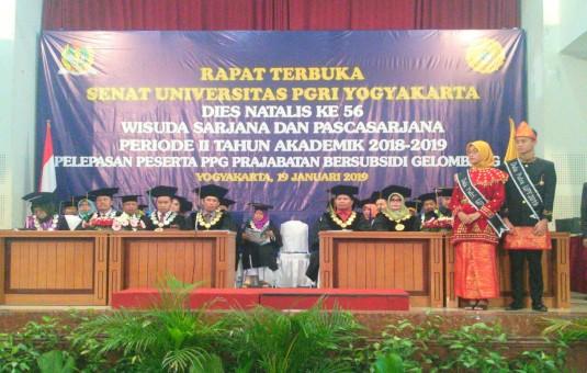Universitas PGRI Yogyakarta Mewisuda 397 Mahasiswa