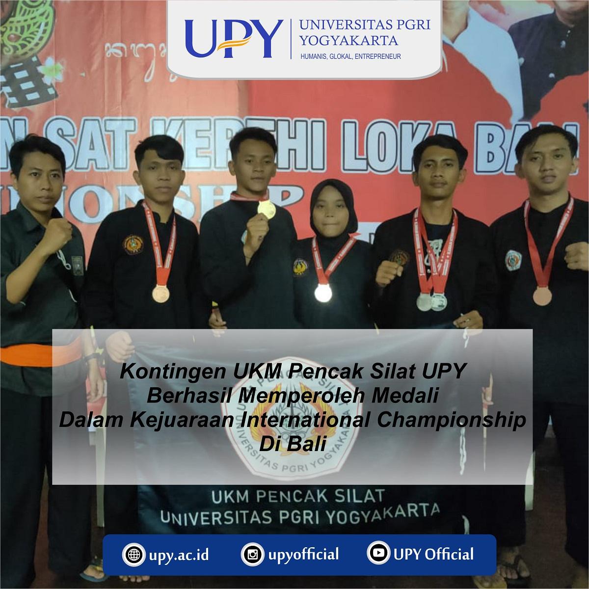 UPY berhasil meraih Medali di kejuaraan Internasional Pencak Silat di Bali