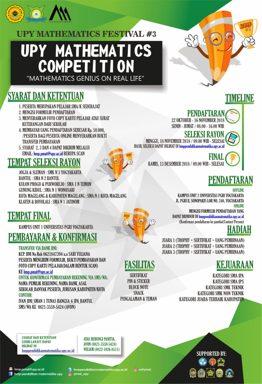 UPY MATHEMATICS COMPETITION (UMC) 2018