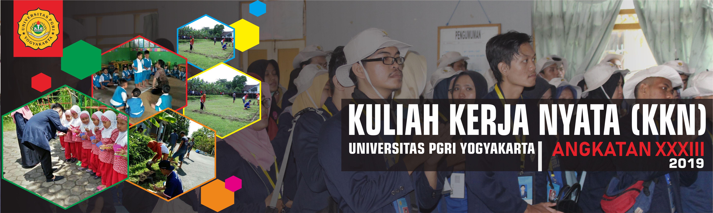 KULIAH KERJA NYATA (KKN) UNIVERSITAS PGRI YOGYAKARTA ANGKATAN XXXIII TAHUN 2019