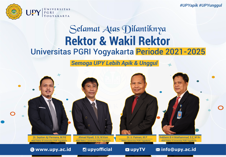 Rektor Dan Wakil Rektor Universitas PGRI Yogyakarta Periode 2021-2025
