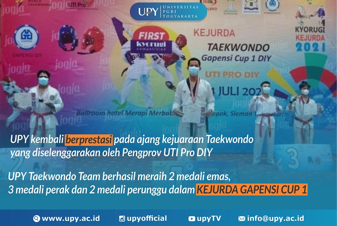 UPY Taekwondo Team Kembali Raih Prestasi di  Kejuaraan Daerah GAPENSI CUP 1